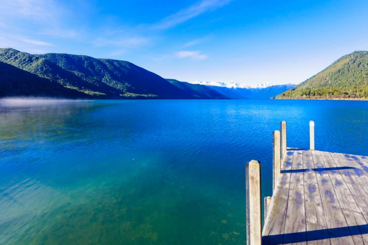 Morning view in Nelson Lakes National Park, New Zealand