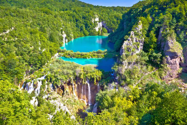 Paradise waterfalls of Plitvice lakes national park, Croatia