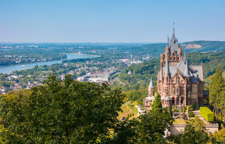 Drachenburg Castle in Bonn, Germany
