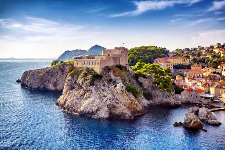 The General view of Dubrovnik, Croatia