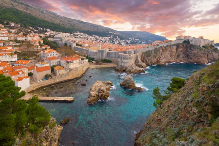 View on ancient castle in Dubrovnik. Croatia