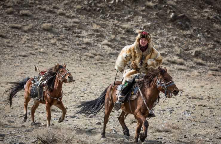 سوار اسب در مغولستان