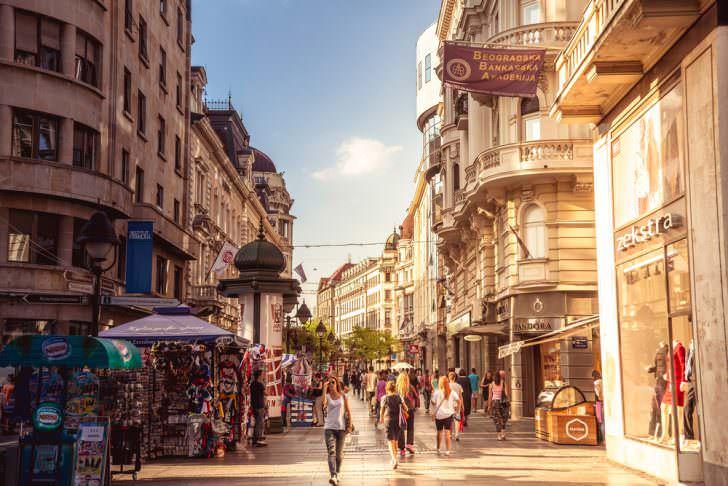 Knez Mihailova Street in Belgrade, Serbia