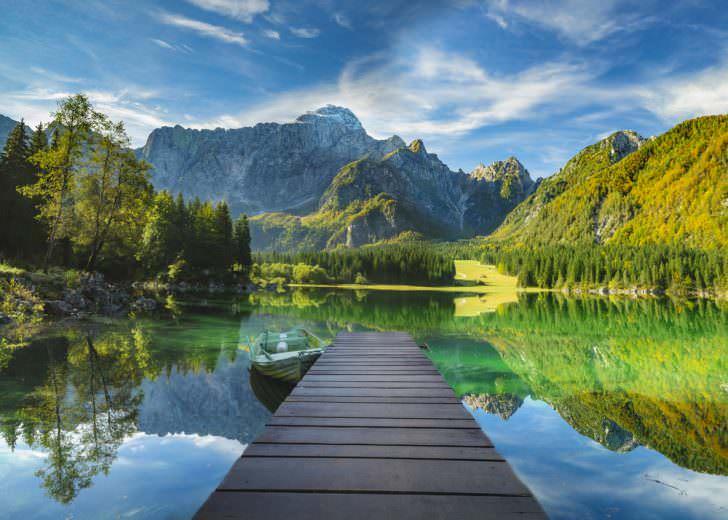 Mountain lake, Laghi di Fusine, Italian Alps