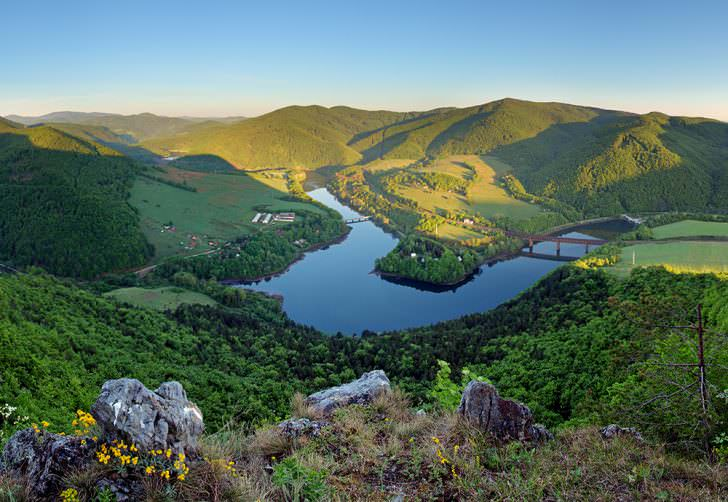 Lake Ruzin in Slovakia countryside near Kosice