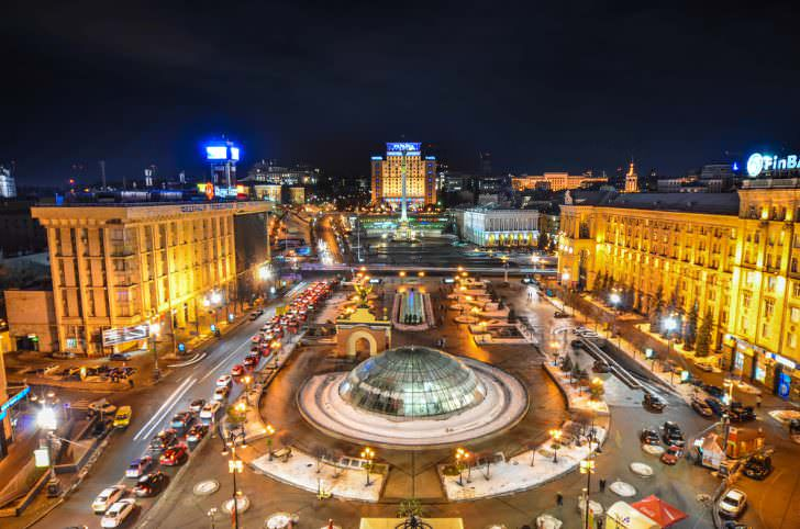 Maidan square, Kiev, Ukraine