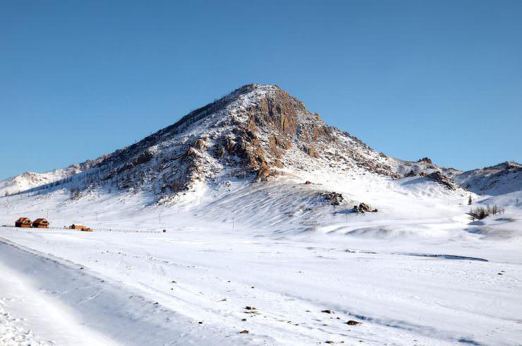 چشم انداز زمستان مغولستان