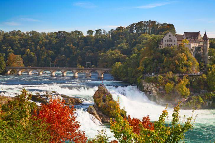 Biggest waterfall in Europe, Rheinfall, Switzerland