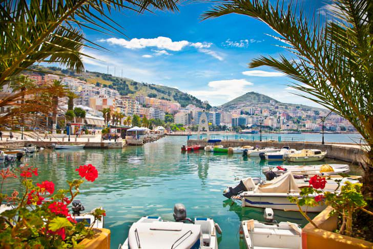 Saranda's City Port, Albania.
