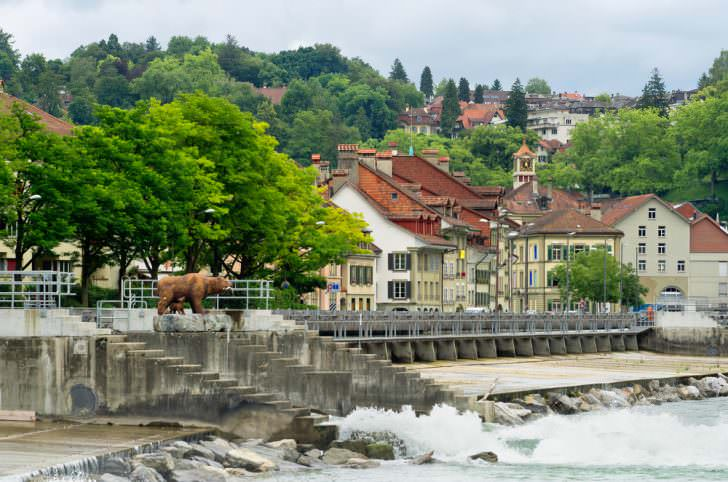 River Aare and old city of Bern, Switzerland