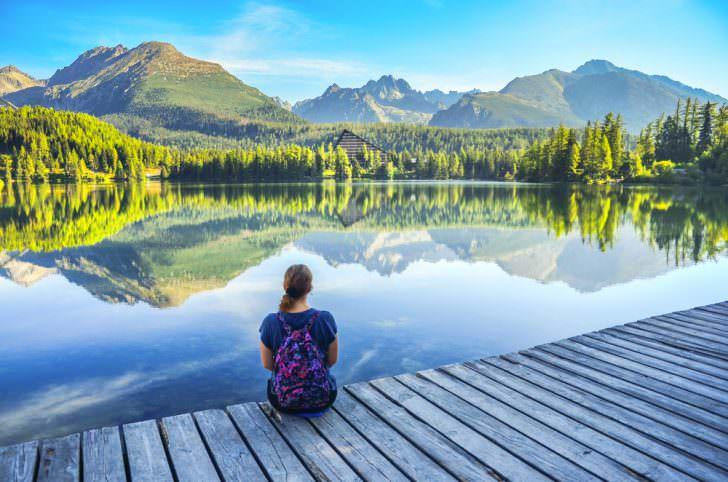 Strbske pleso lake, Slovakia