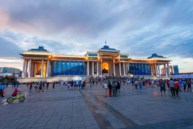 The Government Palace in Ulaanbaatar, Mongolia