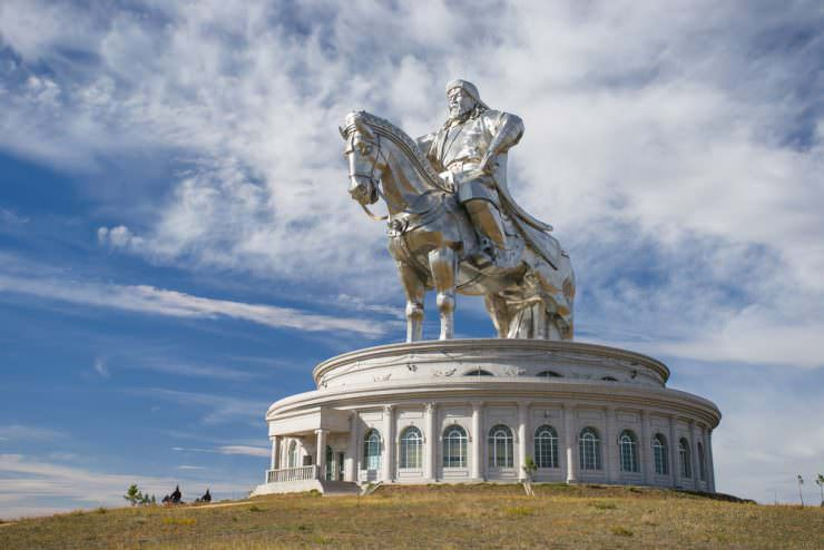 The world's largest statue of Genghis Khan, Mongolia