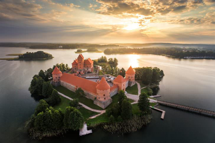 Trakai castle in Litaunia.