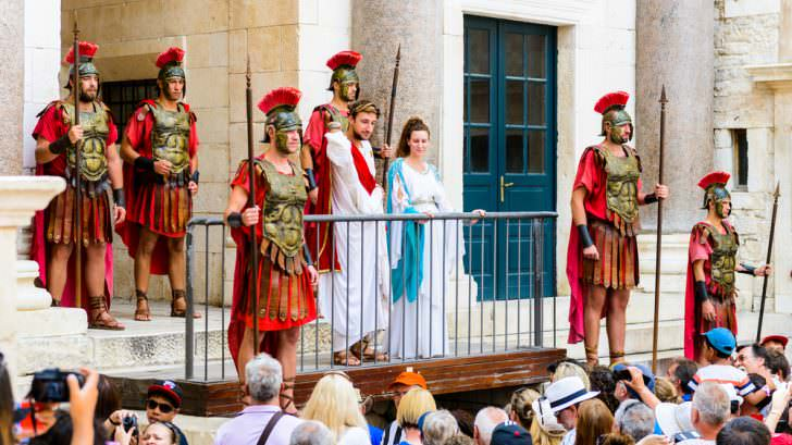 Roman warriers in Split, Croatia