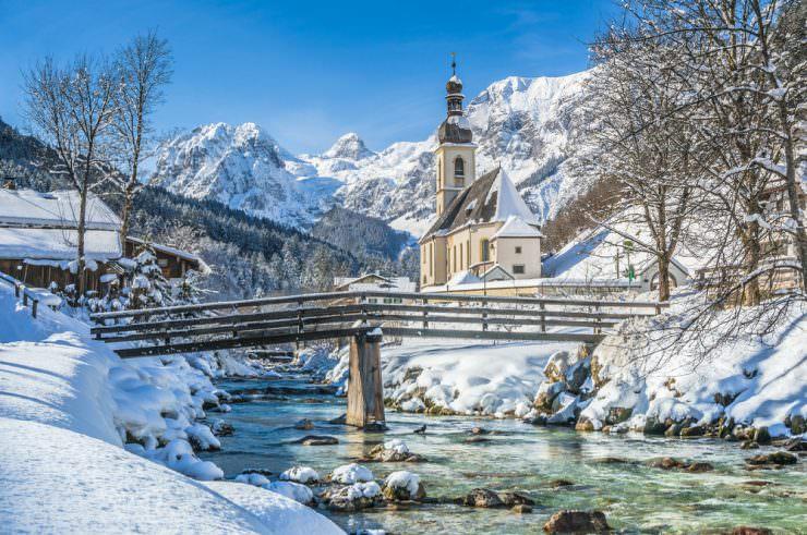 Parish Church of St. Sebastian in winter