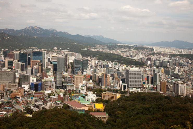 Aerial view of Seoul, South Korea