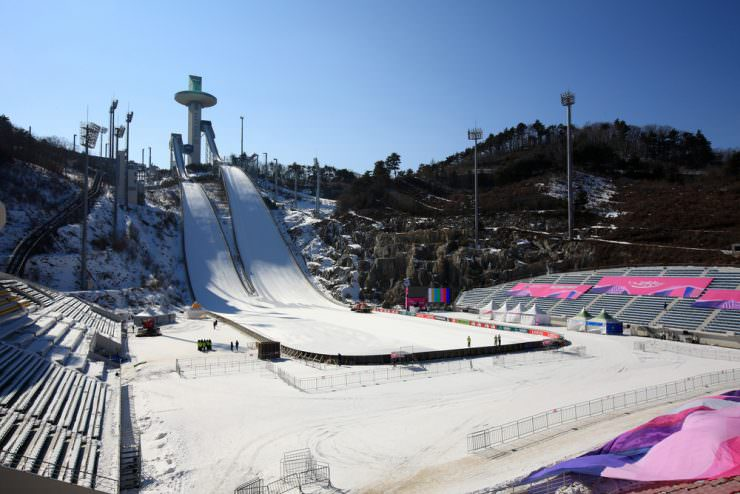 Alpensia Olympic Ski Jump Center in Pyeongchang
