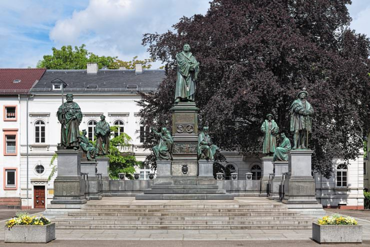 Martin Luther Memorial in Worms, Germany