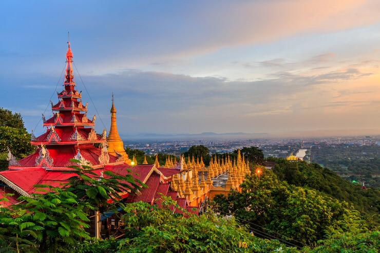 A panoramic view of Mandalay