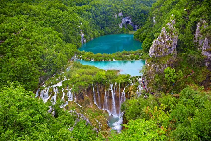 Breathtaking view over the Plitvice Lakes National Park, Croatia