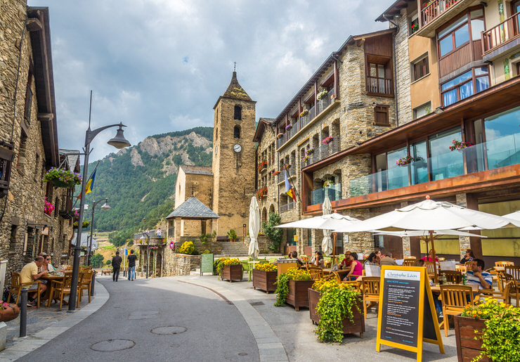 In the streets of Ordino, Andorra