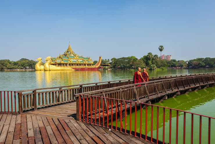 Kandawgyi Lake and Kandawgyi Nature Park, Yangon, Myanmar