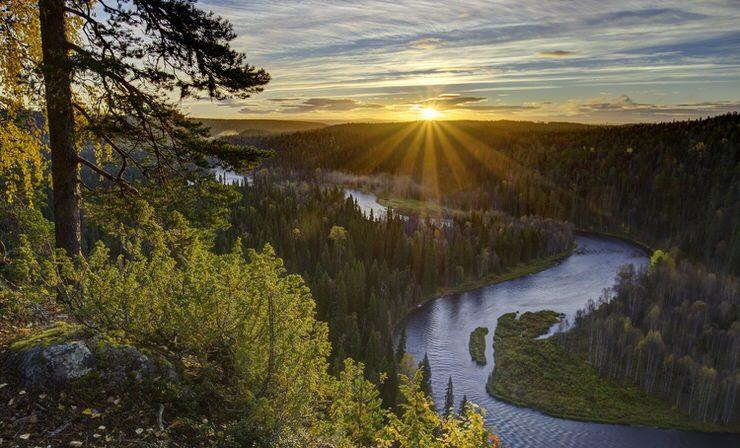 Kuusamo, Paahkanakallio, Oulanka National Park, Finland