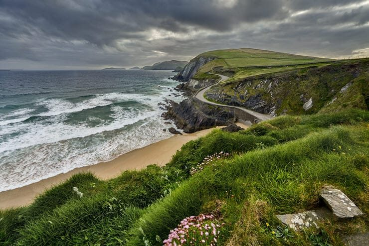 Rocky coastline at Slea Head on Dingle Peninsula, Ireland