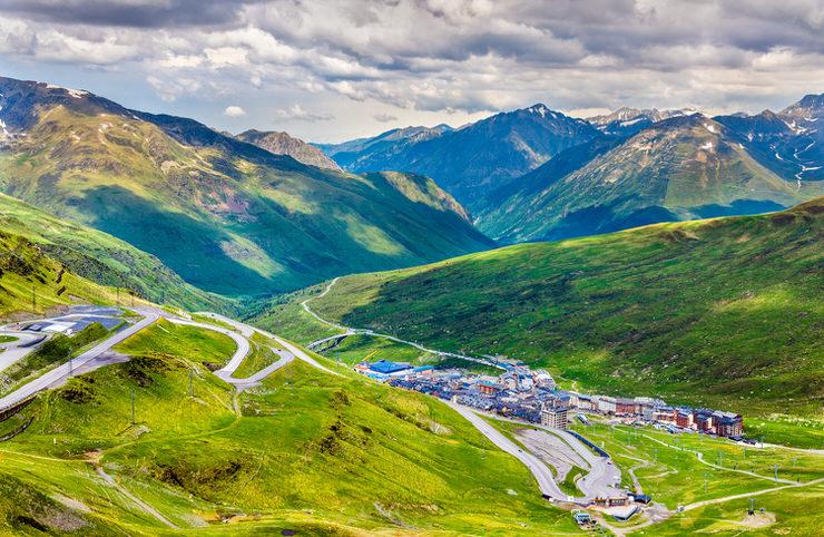 View of El Pas de la Casa from a mountain - Andorra