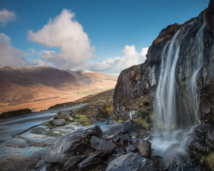 Waterfall on The Conner Pass, Dingle Peninsula