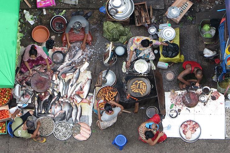 Yangon Chinatown street market