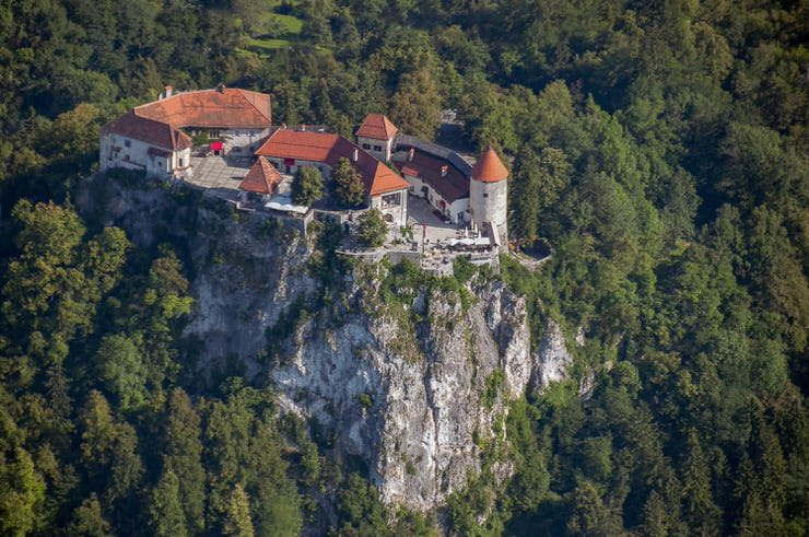 Bled castle, the oldest castle in Slovenia