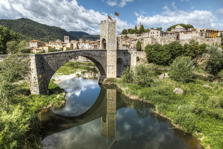 Medieval bridge of Besalu, Spain