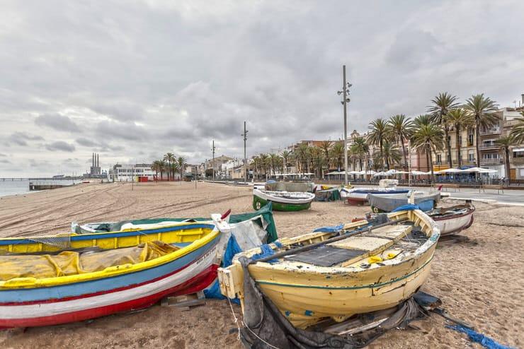 Playa Badalona, Catalonia, Spain