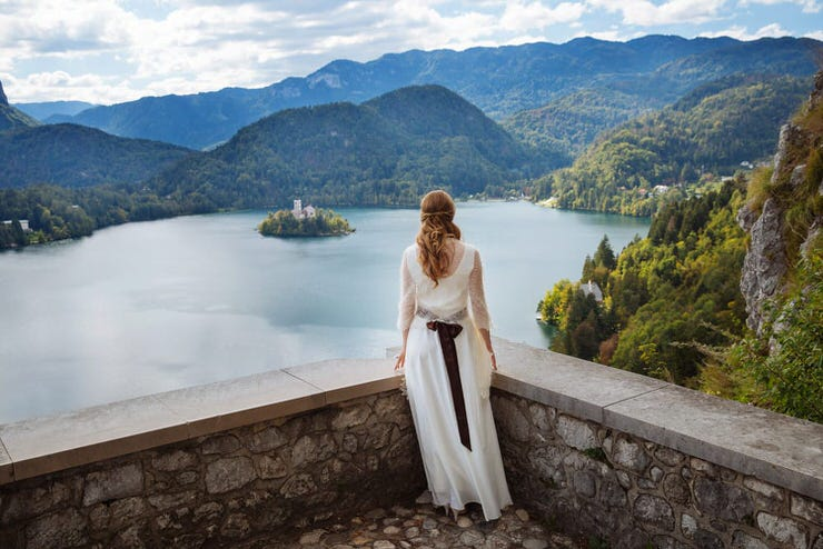 View from Bled Castle to the Lake