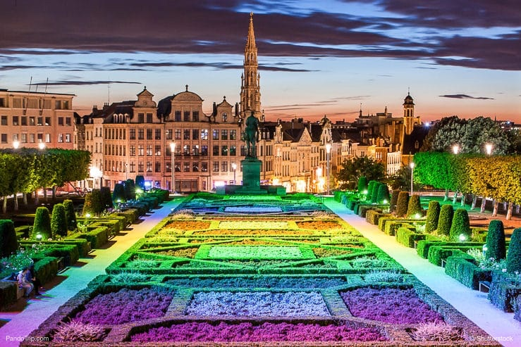 Garden of Mont des Arts, Brussels, Belgium