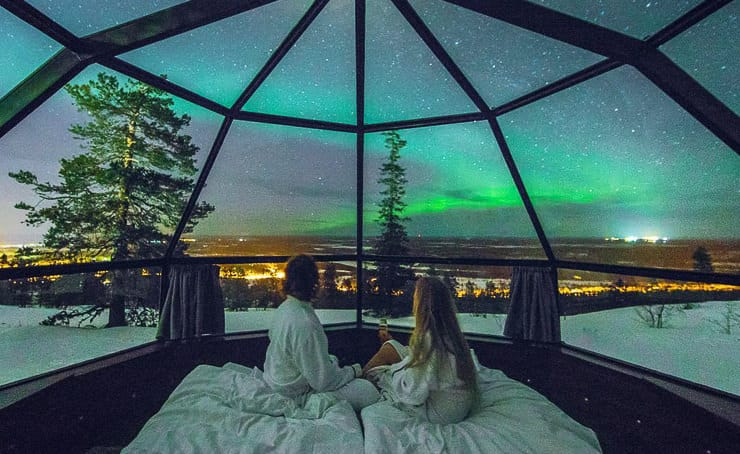 Maybe the Best Place to Fall Asleep Under the Northern Lights – Levin Iglut in Finland