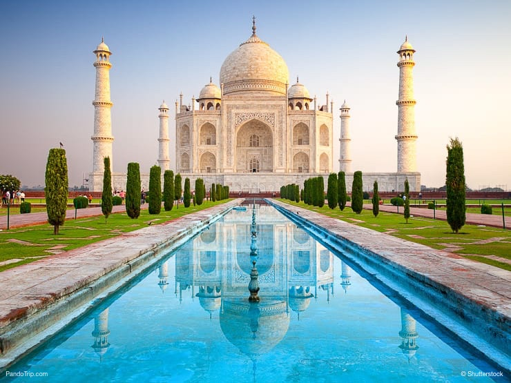 A classic view of Taj Mahal, India