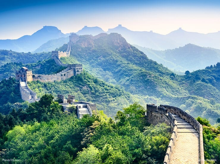 Amazing view of The Great Wall of China