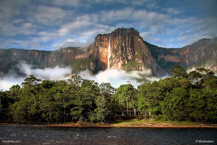 Angel Falls in the morning