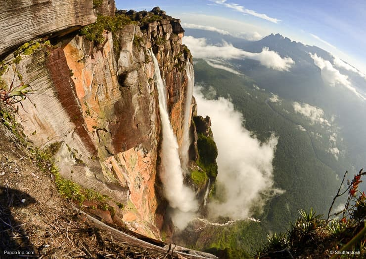 Image result for angel falls from above""