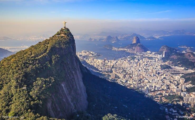 Christ the Redeemer and Rio de Janeiro city panorama