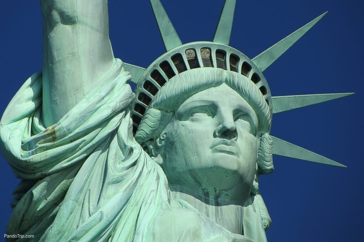 Close up of the Statue of Liberty, New York