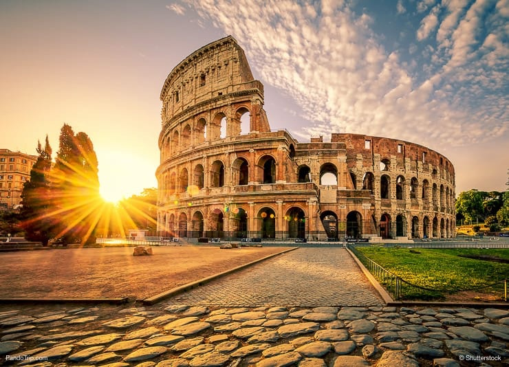 Colosseum in Rome at sunrise