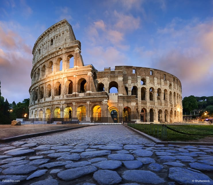 Colosseum in Rome during morning hours