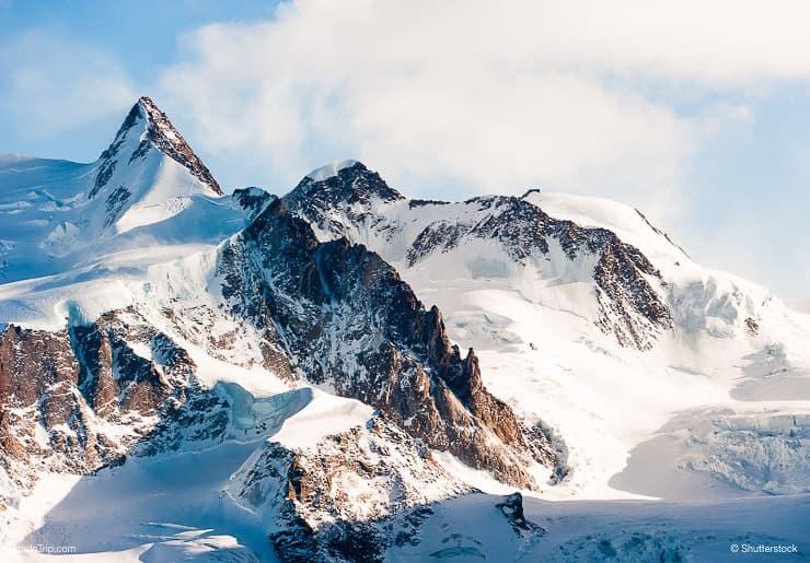 Doufourspitze peak, Monte Rosa, Zermatt, Switzerland