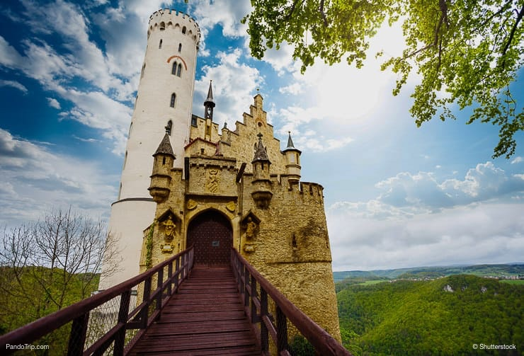 Entrance to the Lichtenstein castle
