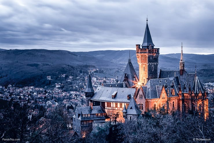 Fairy tale castle in Wernigerode
