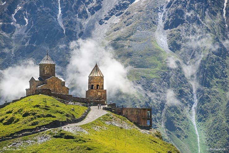 Gergeti Trinity Church under Mount Kazbegi